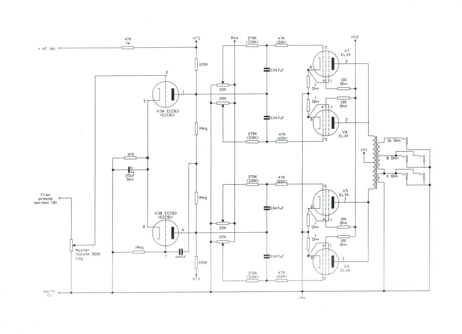 Vampower 100 Watt Mki Amplifier Schematic Diagrams