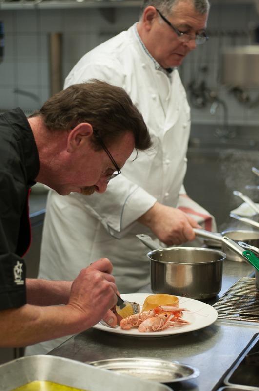 Portrait de chef restaurant