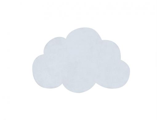 tapis nuage bleu clair
