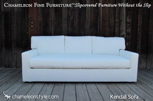 Kendall Sofa - White with Three Back Cushions
