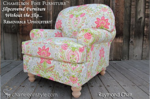 Raymond Chair in Dena Home Slipcover (Removable Upholstery)