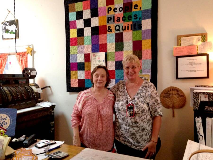 Owners atPeople Places & Quilts in South Carolina