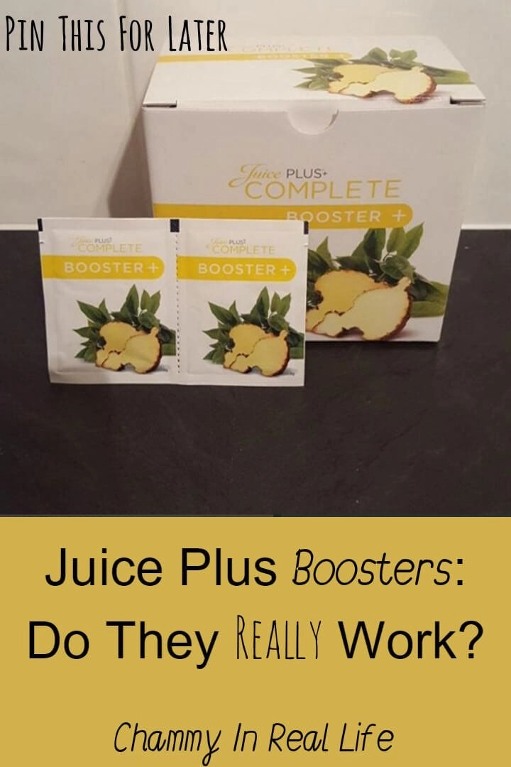 Juice Plus Boosters - they claim to aid with weight loss and make you feel fuller for longer but do they really work? See what I think in my review.