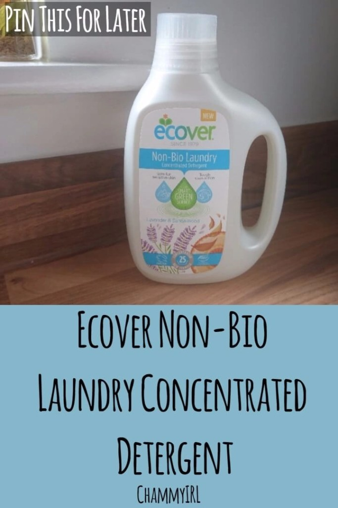 I put Ecover Non-Bio Laundry Concentrated Detergent to the test. Did it include everything I'm looking for in a washing detergent?