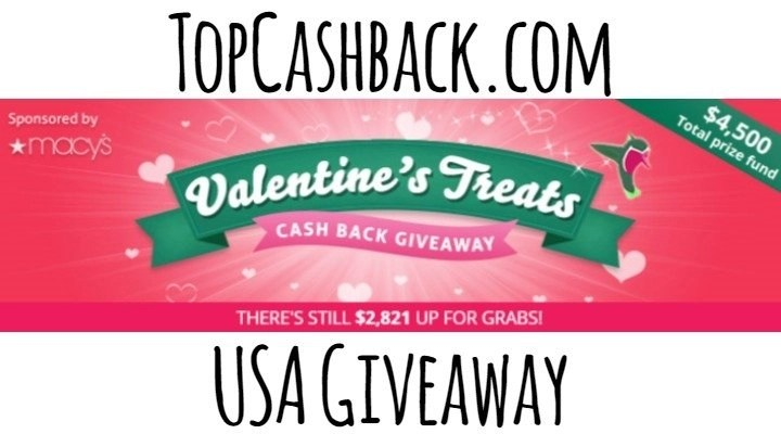 USA TopCashback Valentine's Treats Giveaway