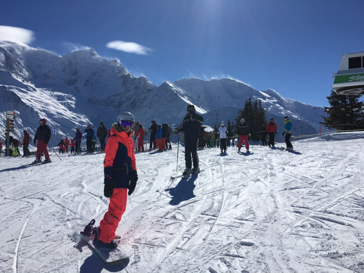 Snowboarding Les Houches