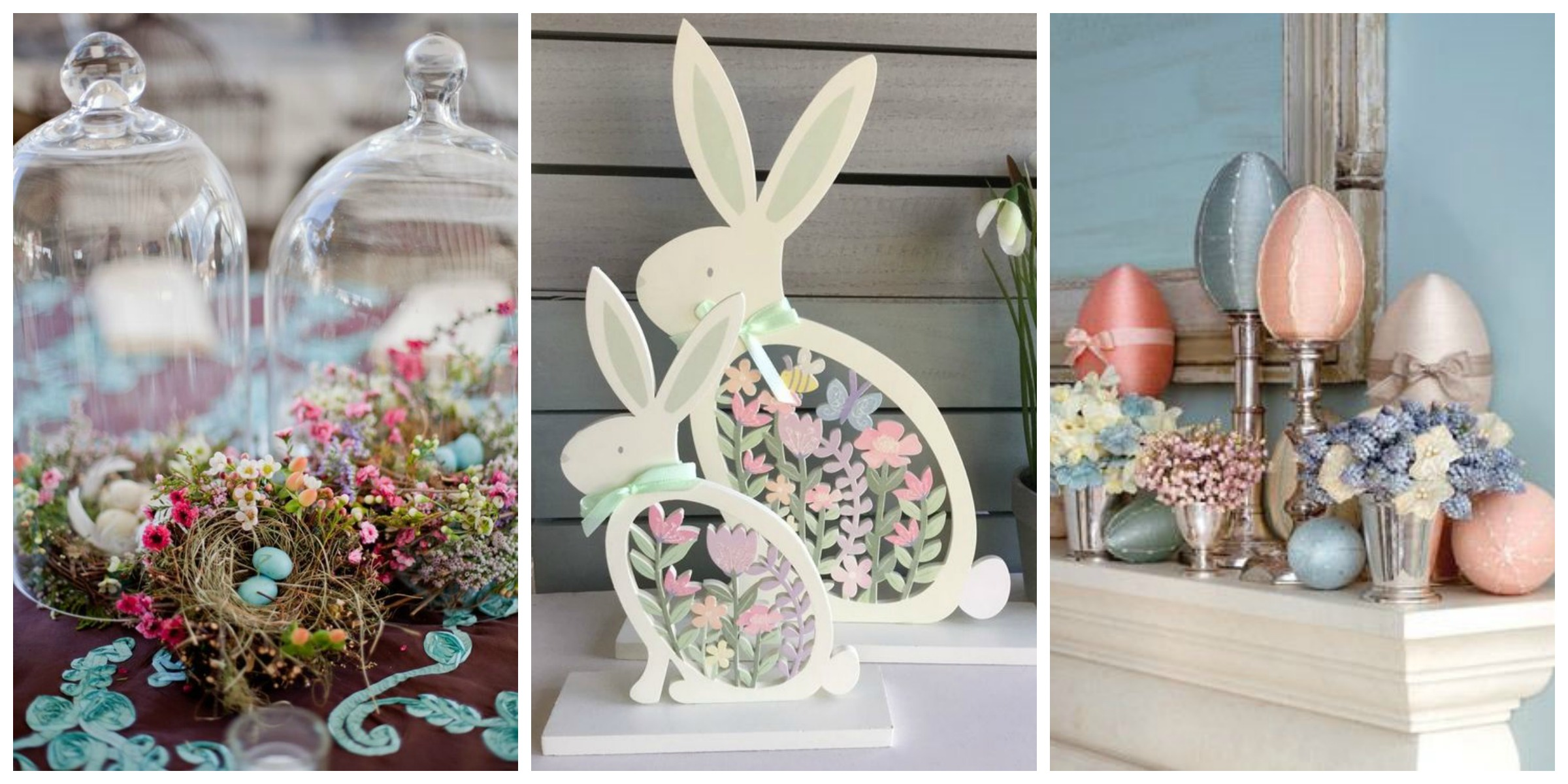 Decorating your home for easter champagne and petals for Home decor centerpieces