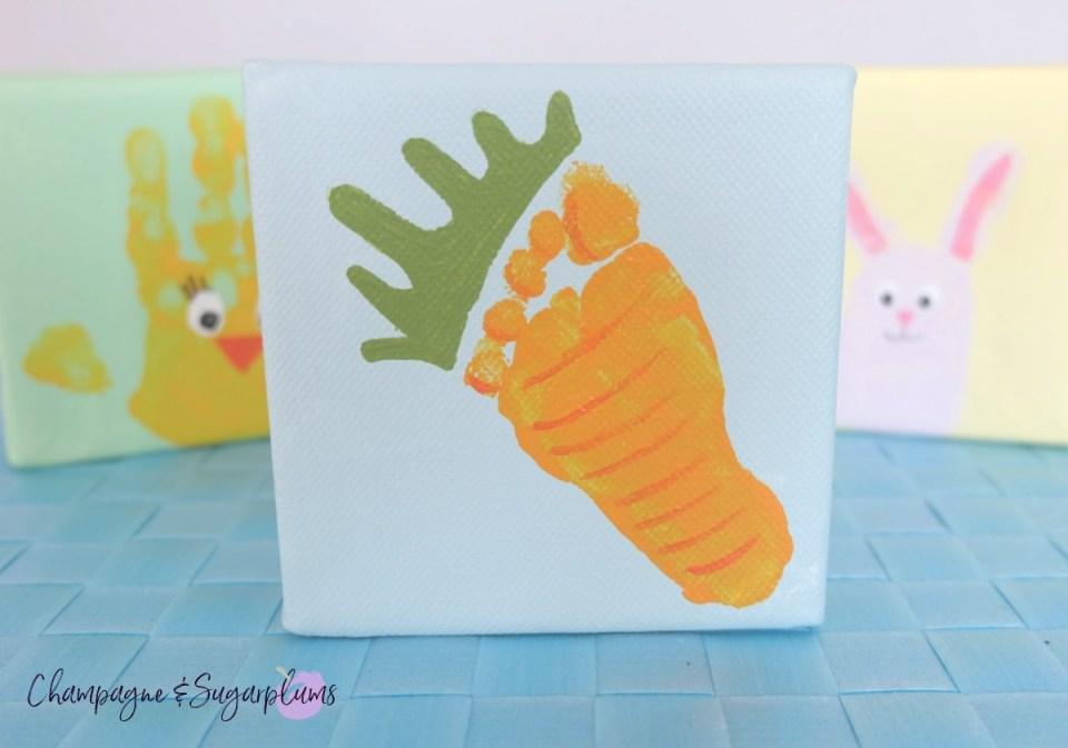 Cute Easter Carrot Footprint Idea