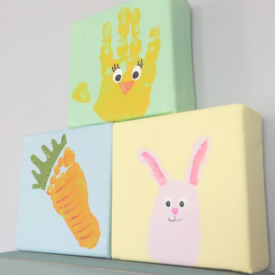 Cute Easter handprint and fingerprint craft idea