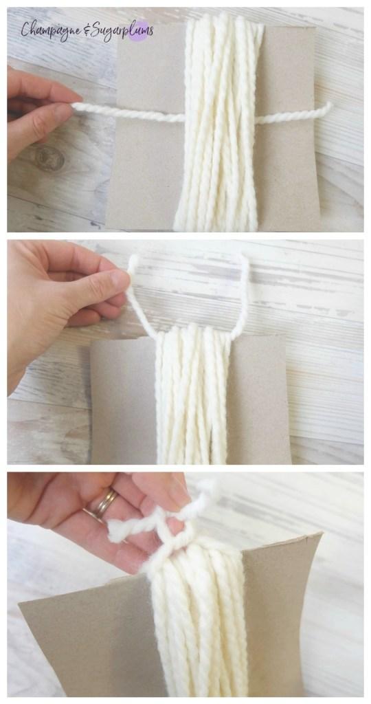 Cozy Christmas Blanket Tassels DIY
