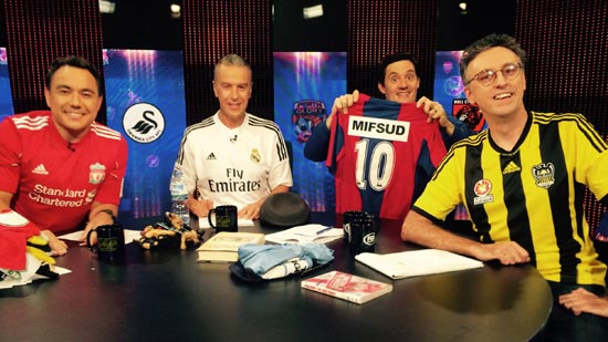 Kim Jong Un, Snato Gauro, KD Lang and Andrew Denton. Oh wait... Photo: https://www.facebook.com/santosamed