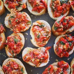 Garden Cherry Tomato Bruschetta
