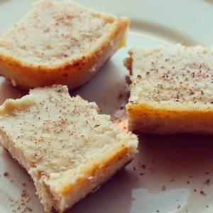 Vegan Eggnog Cheesecake Squares