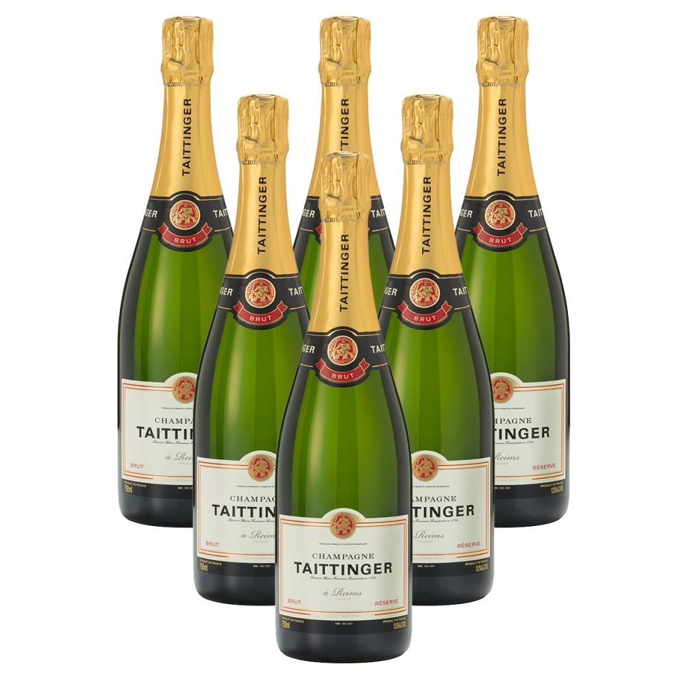 Case of 6 Taittinger Brut Reserve Champagne 75cl (6x75cl) | Champers Direct