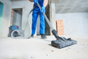 An image of a post construction cleaning job