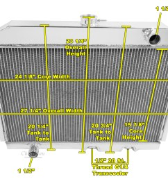 american motors javelin radiator aluminum 4 row champion shroud 12 fans mc407 ebay [ 1290 x 1048 Pixel ]