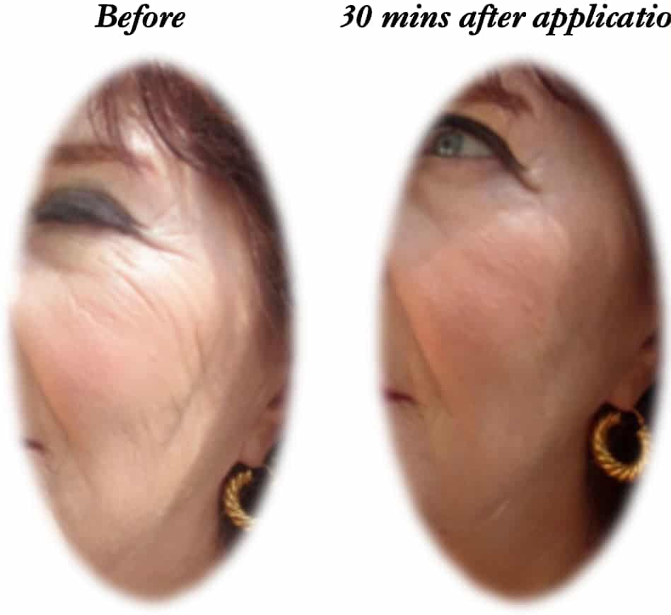 Panacea Potion Product Testing Wrinkle Formation
