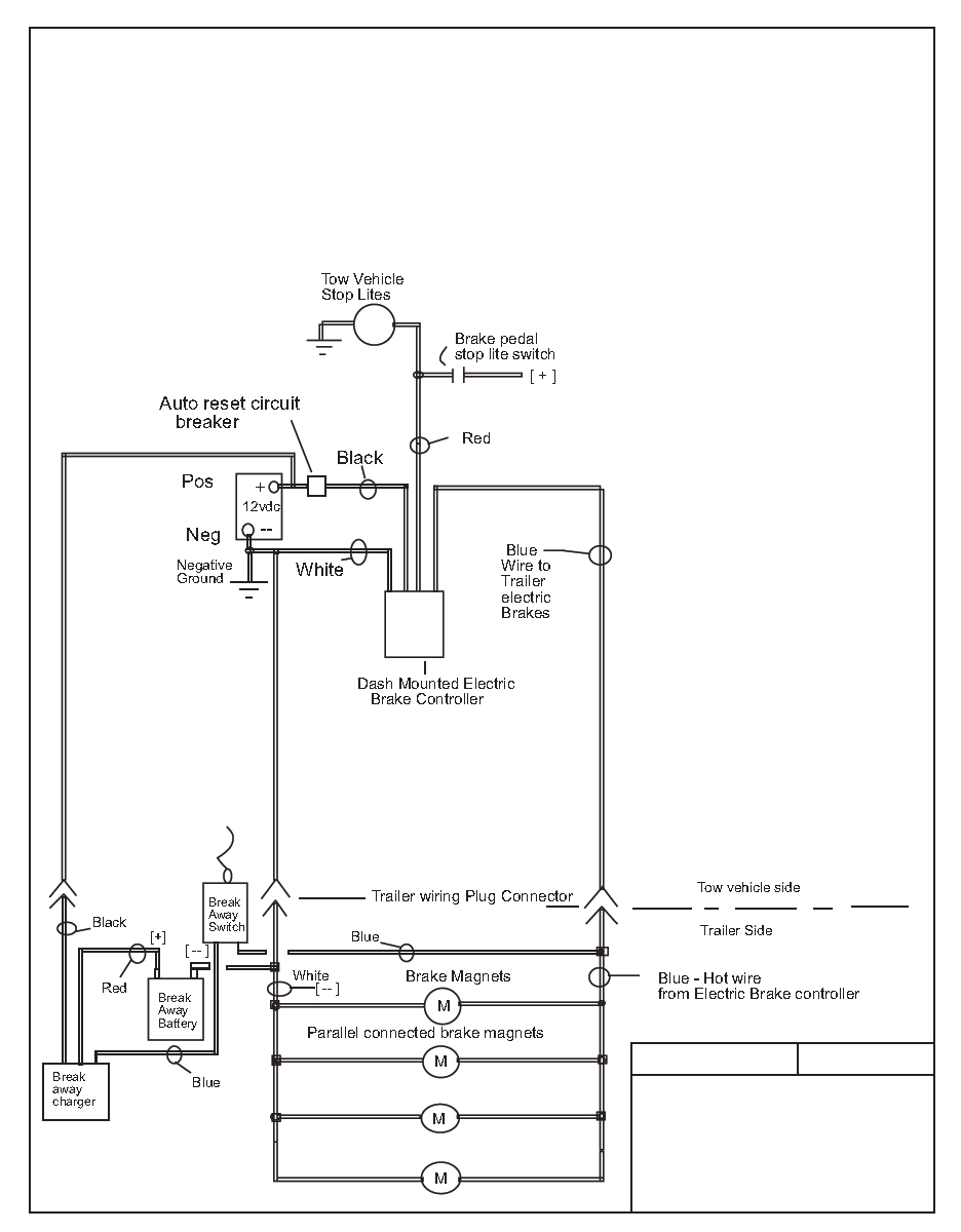wiring diagram for a trailer with 4 brakes