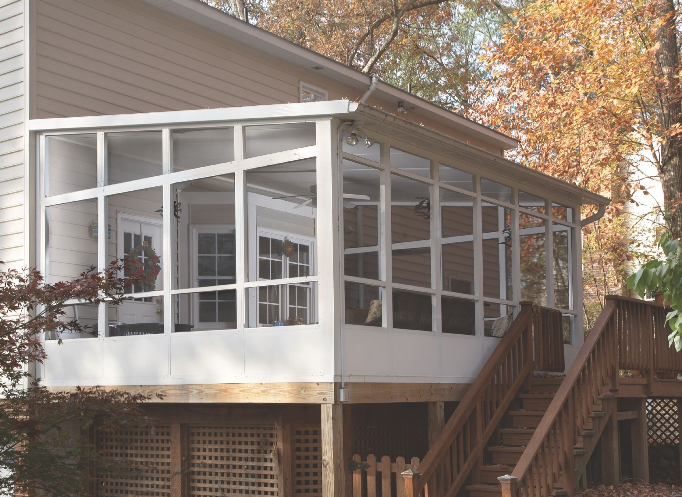 screen room screened in porches