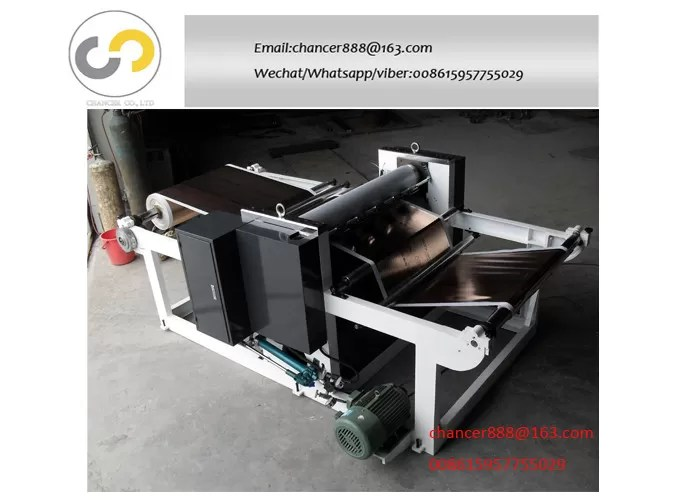 Rotary roll to roll embossing machine for paper. aluminum foil.film