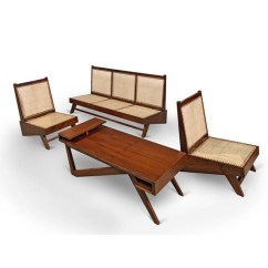 Folding Chair Hinges Kitchen Stool Chairs Le Corbusier - Teak Lounge Furniture By Pierre Jeanneret