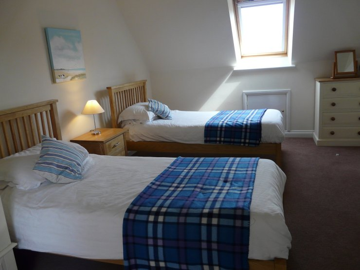 Twin room accommodation at Chandlers View holiday cottage in Whitby England