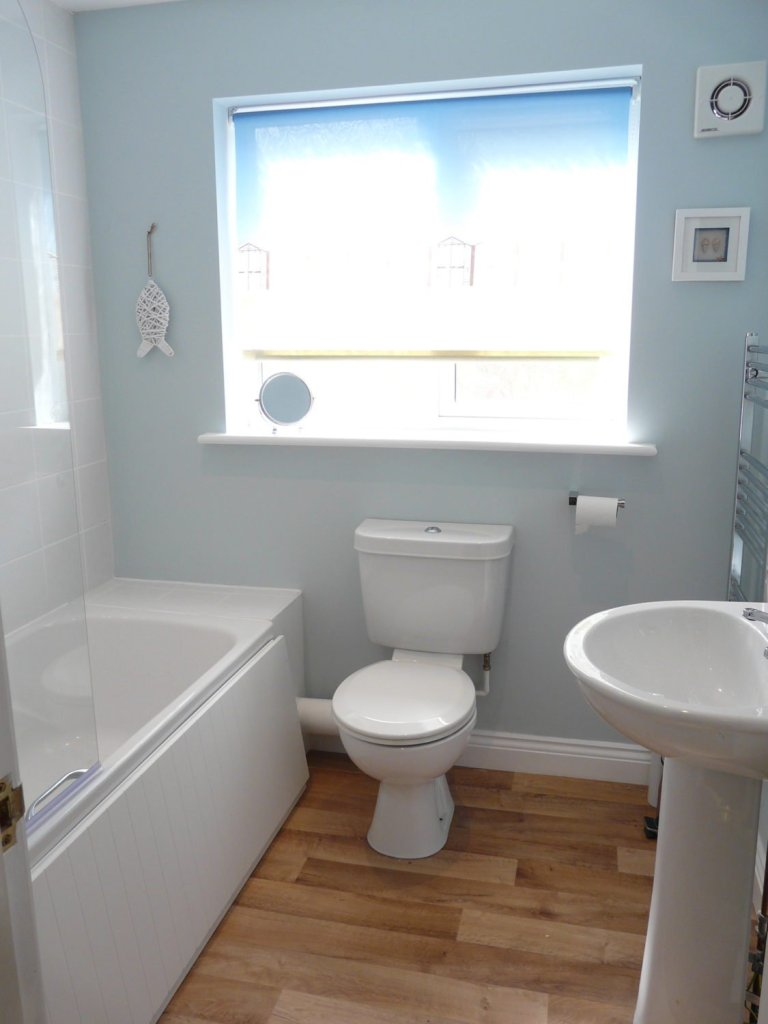 The bathroom at Chandlers View holiday cottage in Whitby England