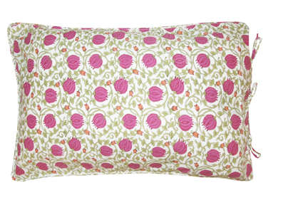 pillow cases hand block printed 100