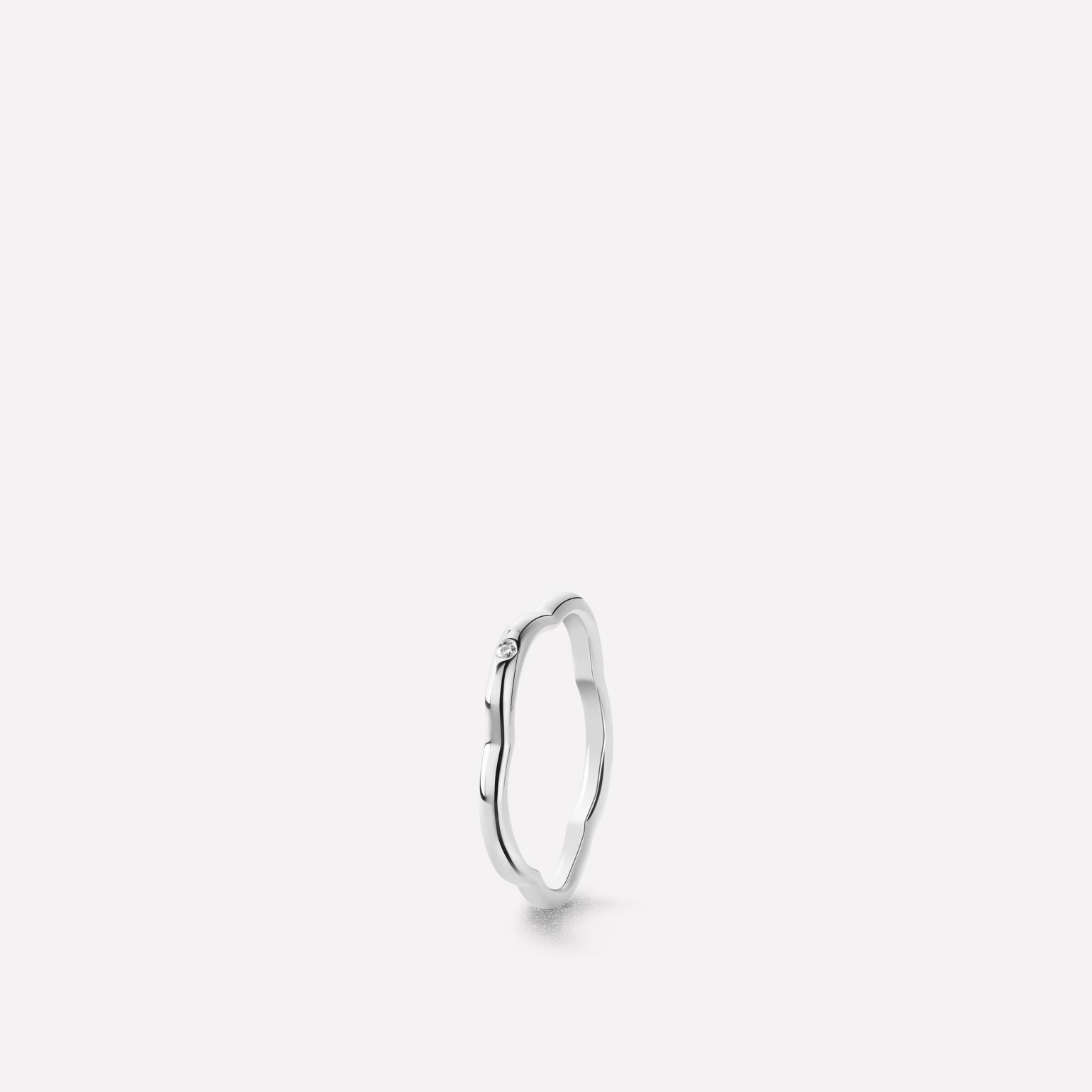 Camlia Ring Camlia Ring In 18K White Gold With One