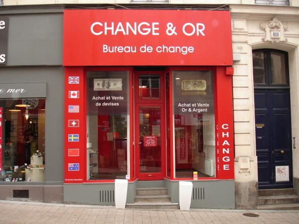 bureau de change change et or a angers