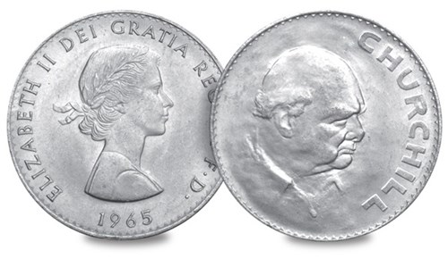 British Churchill Coin 1965