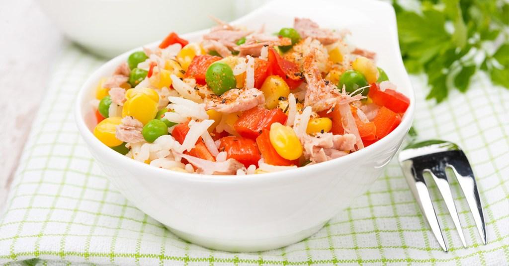 Σαλάτα με ρύζι και τόνο!