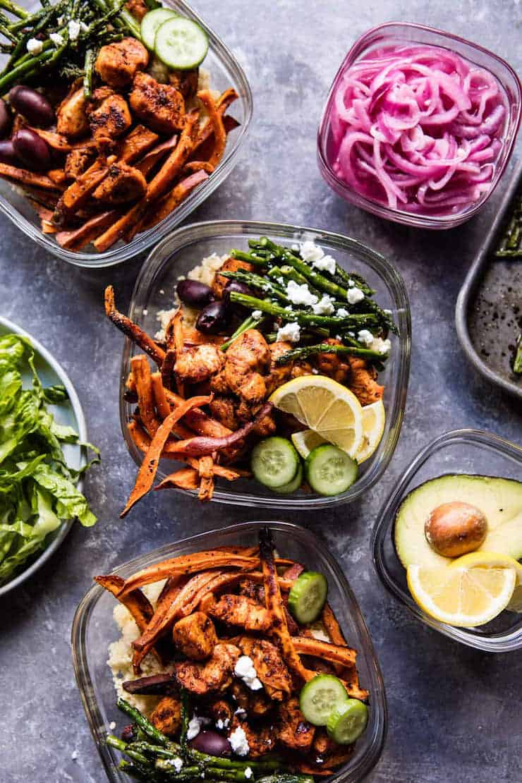 Healthy Meal Prep Bowls: Chicken Shawarma And Sweet Potato
