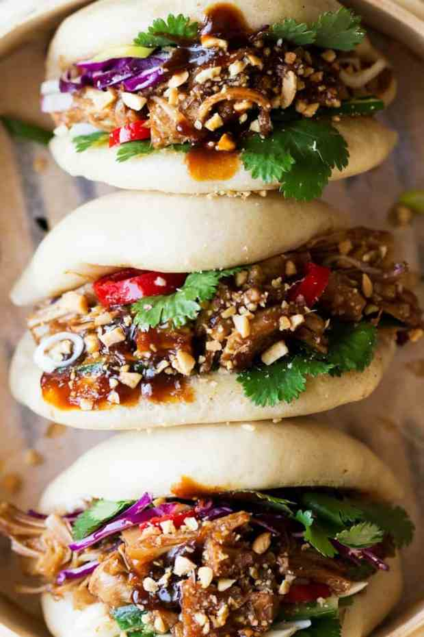 Vegan Bao Buns Pulled Jackfruit