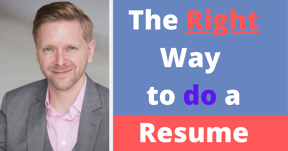 Image of Christopher Lawrence and the right way to do a resume!