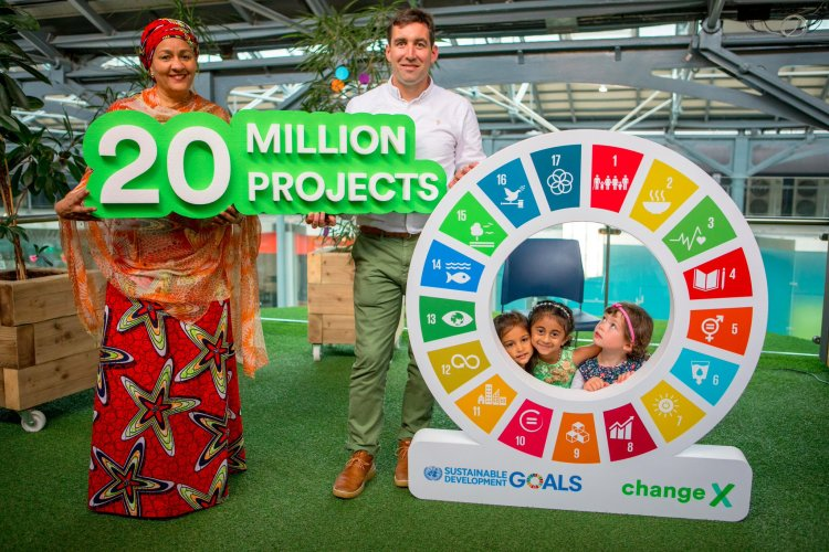 Amina Mohammed (UN Deputy Secretary-General) and Paul O'Hara (CEO ChangeX) - 20 Million Community Projects until 2030