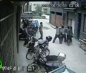 China hombres atrapan a niña