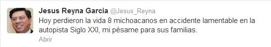 Twitter CNTE Michoacán Jesús Reyna