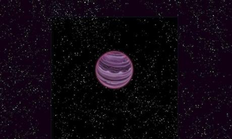 Artist's conception of PSO J318.5-22 in the constellation of Capricornus