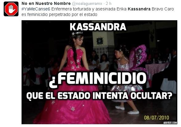 kassandra meme feminicidio de estado