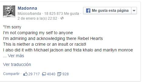 Madonna Pide disculpas por usar imágenes de Martin Luther King y Mandela en portada de su disco