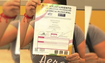 Licencia municipal Uruapan