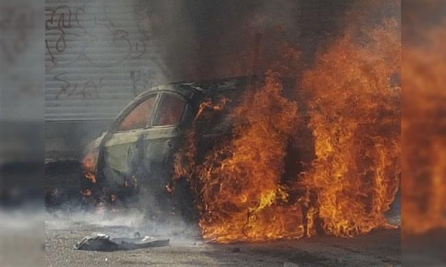 auto robado incendio Morelia