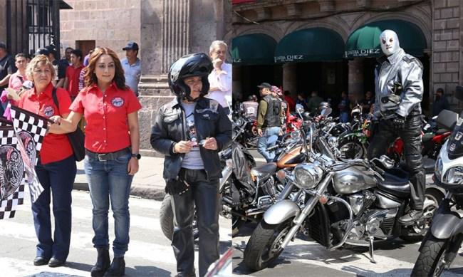 motos caravana Michoacán