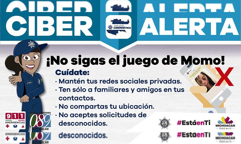 #Michoacán Gobierno Emite Ciber Alerta ¡No Sigas El Juego De Momo!