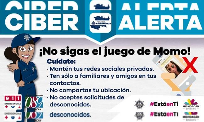 Ciber Alerta Momo Michoacán peligroso