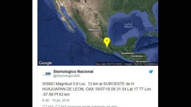 Sismo Oaxaca 19 Julio 2018