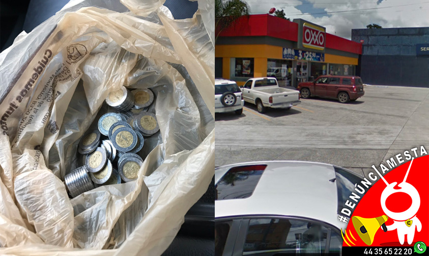 #Denúnciamesta: Me entregaron $300 pesos en monedas y no me dieron ticket en Oxxo de Morelia