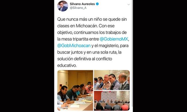 Silvano niños sin clases Michoacán