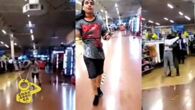 """Photo of Pasa En México: Chava Derrama """"Sangre Capitalista"""" En Walmart Y Abraza A Elemento De GN"""